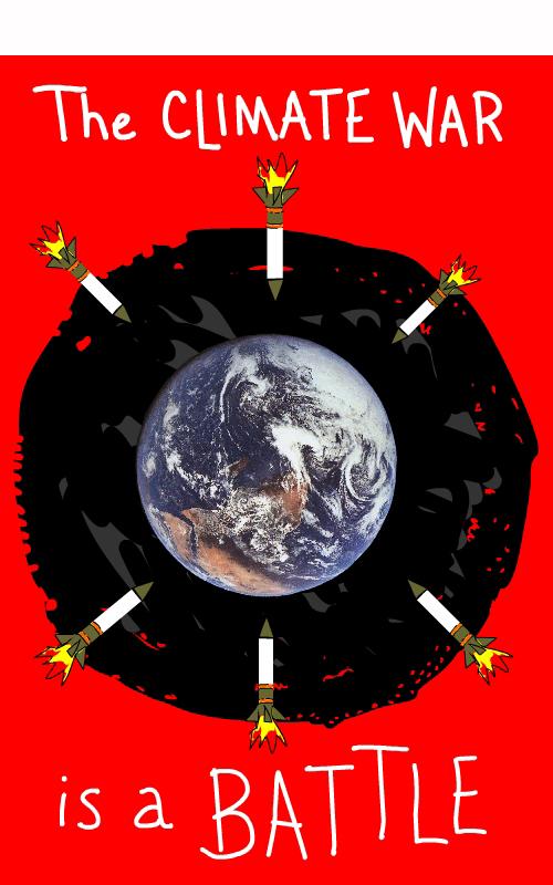 climate  war battle illustration by Franke James