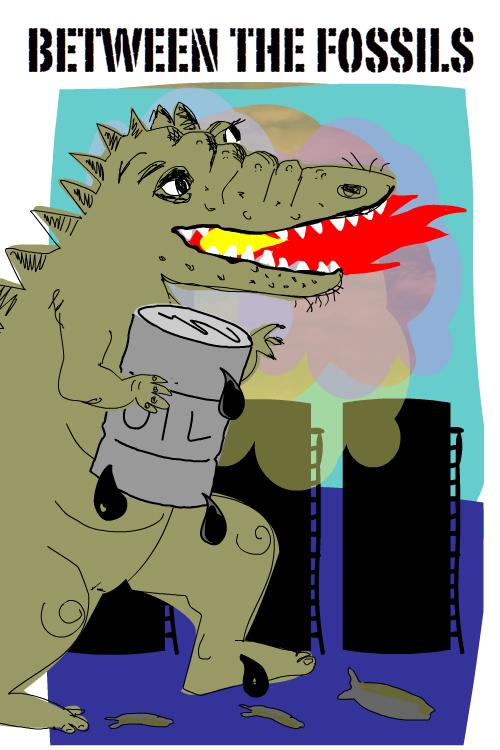 Fossil  Dinosaur illustration by Franke James