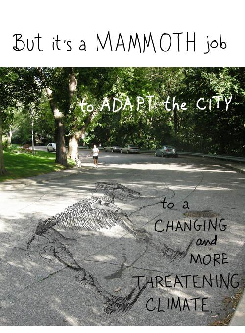 mammoth superimposed on Franke James road photo