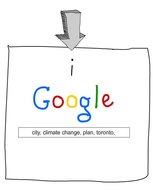 drawing of Google logo search page by Franke James