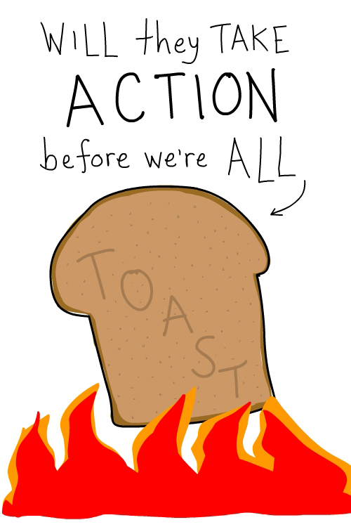 toast drawing by Franke James