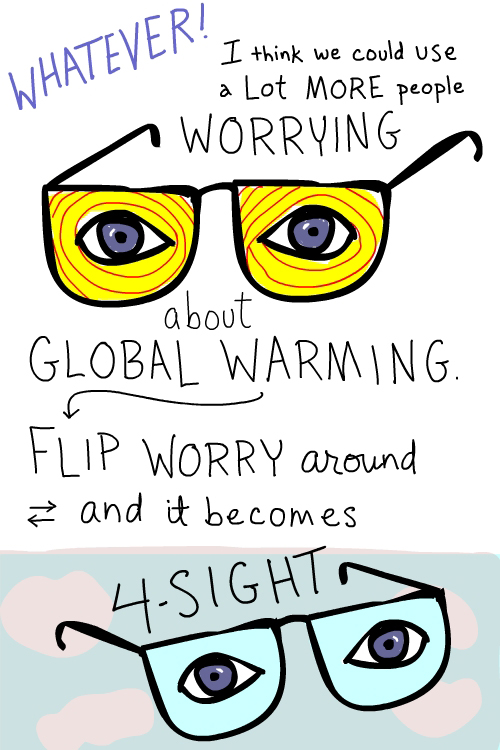 Flip worry drawing by Franke James