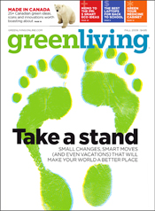 Green Living Magazine cover, Autumn 2009