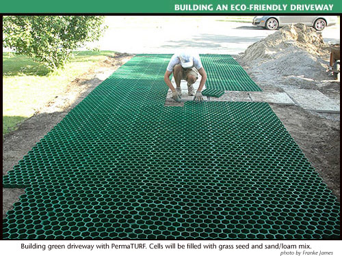 Eco Friendly Green Driveways A Living Permeable Driveway