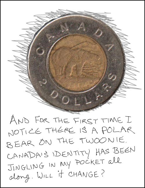 polar bear on toonie